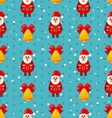 Merry Christmas seamless pattern with Santa and vector image
