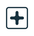 plus icon Rounded squares button vector image