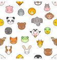 seamless pattern isolated animals cute baby vector image
