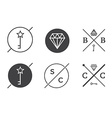 Set of Outline Badges or Emblems Abstract Hipster vector image