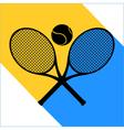tennis symbol sign vector image