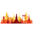 Thailand Landmark Skyline vector image