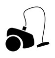 vacuum cleaner the black color icon vector image