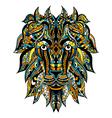 Ornamental Tattoo Lion vector image