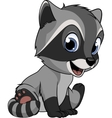 Little funny raccoon vector image