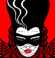 image of an dame in mask vector image