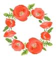 Poppies wreath vector image