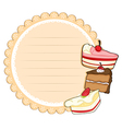 A round stationery with cakes vector image