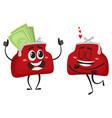 money wallet character set vector image