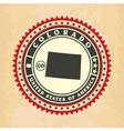 Vintage label-sticker cards of Colorado vector image