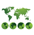 world and continents vector image