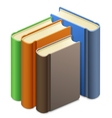 group of books vector image