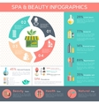 Spa Infographic Set vector image