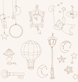 sweet dreams - design elements for baby scrapbook vector image vector image