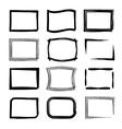 Rectangular frames Felt-tip pen and marker style vector image vector image