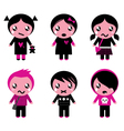 cute emo kids vector image vector image