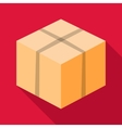 Big box icon flat style vector image