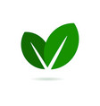 Eco Leaf Logo Green Icon vector image
