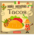 Mexican Menu Tacos vector image