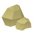 origami stone icon cartoon style vector image