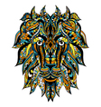 Ornamental Tattoo Lion vector image
