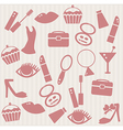 Seamless pattern with womans things vector image