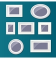 Set of different picture frames and pictures vector image