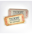 two tickets vector image