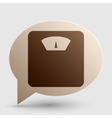 Bathroom scale sign Brown gradient icon on bubble vector image