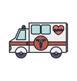 ambulance truck with medical symbol vector image
