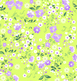 Pastel ditsy floral seamless background vector image