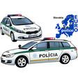 slovakia police car vector image vector image