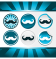 Movember Mustache Awareness Buttons vector image