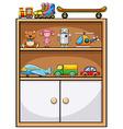 Toys and shelf vector image vector image