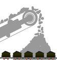 Coal industry 1 vector image vector image