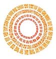 Ethnic circle sun vector image