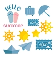 beach sneaker summer set web icon vector image