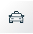 cab outline symbol premium quality isolated taxi vector image