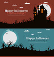 castle and moon halloween background vector image