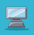computer keyboard device technology monitor vector image