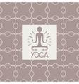 Enlightenment Yoga Studio Design Card vector image