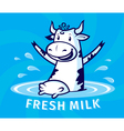 Fresh natural milk vector image