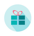 gift box woman icon beauty and accessoires vector image