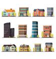 living buildings orthogonal set vector image