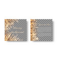 square background with shiny sparkles vector image