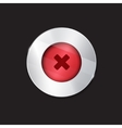 no button cross vector image