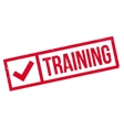 Training rubber stamp vector image