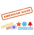 American Made Rubber Stamp vector image
