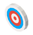 empty dartboard with blue and red lines 3d vector image