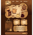 Coffee web template vector image